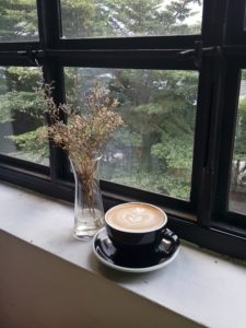 Blog sitting vigil cup of coffee dried flowers window